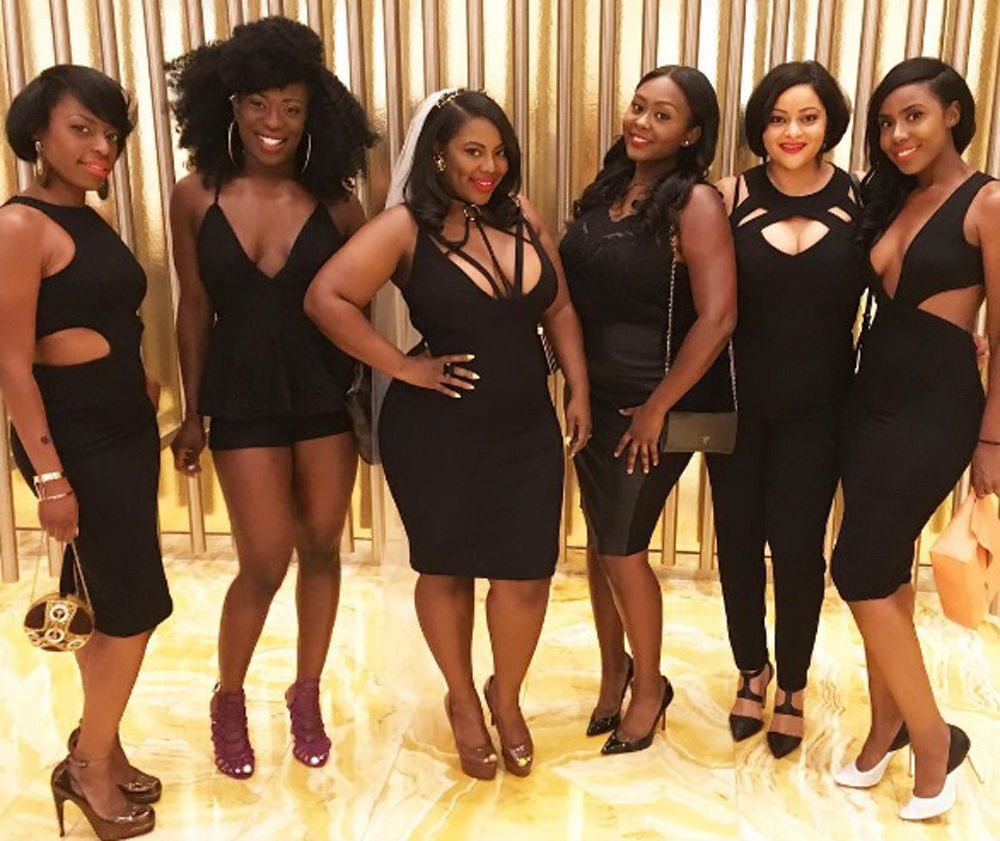 African American black bachelorette party